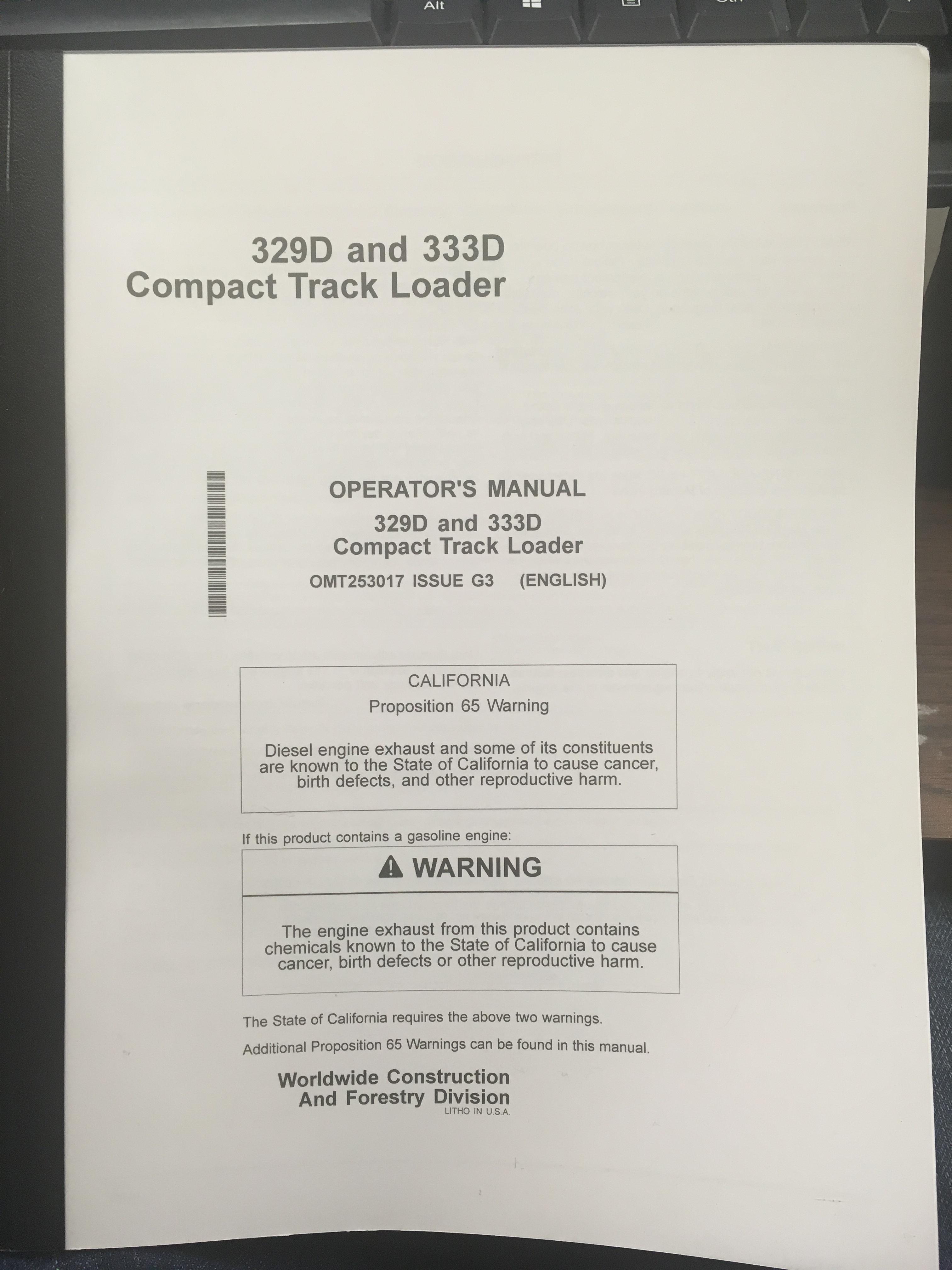 Details about  /John Deere 25 Push-Type Loader Owners Operators Manual OMC181047