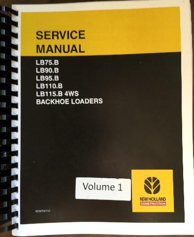 New holland Lb75b Repair manual