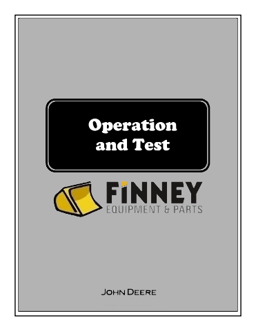 John Deere 490E Excavator Operation and Test Manual JD TM1504 Technical Book