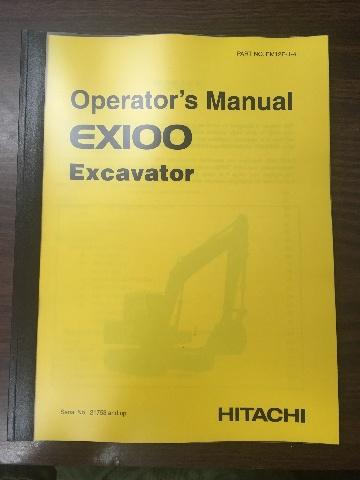 Hitachi EX100 Excavator Operators Manual EM12E14 SN 21753+