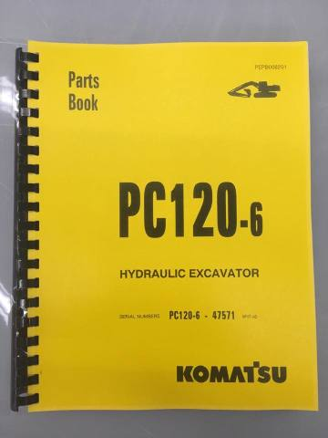 Komatsu PC120-6 Excavator Parts Manual PEPB008201 Book SN 47571UP