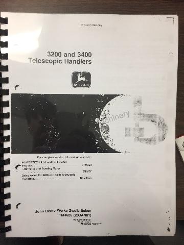 John Deere 3200 3400 Telescopic Handlers Service Manual Repair TM4626