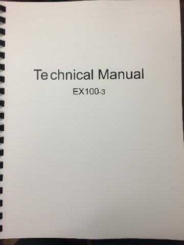 Hitachi EX100-3 Technical Manual KM134E00 Excavator Service Repair Book