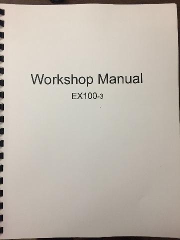 Hitachi EX100-3 Workshop & Technical Manual COMPLETE SET W134E00 KM134E00