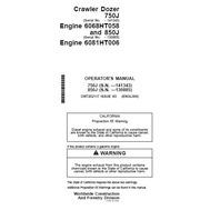 John Deere Crawler Dozer 750L Operation Manual OMT202117 JD Op Book
