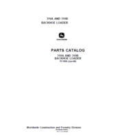 John Deere Backhoe 310A 310B Service Manual JD PC1930 Book