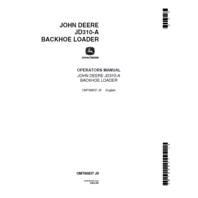 John Deere Backhoe 310A Operation Manual JD  OMT66837
