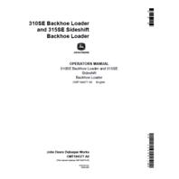 John Deere 310SE  315SE Backhoe Operators Manaul JD OMT184377 Book