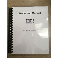 Hitachi EX120-5 COMPLETE Service Manual set 2 Vol + Schematics