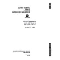 John Deere 410 Backhoe Operation Manual JD OMT66840 Operator Book