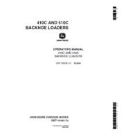 John Deere 410C 510C Backhoe Loader Operators Manual JD OMT133585 Book