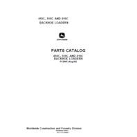 John Deere 410C 510C 610C Backhoe Parts Catalog JD PC2065 Book