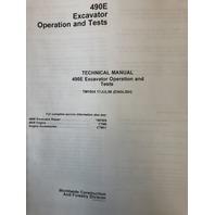 John Deere 490E Excavator Operation and Test Manual JD TM1504 Technical Book service