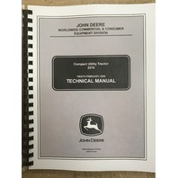 John Deere 2210 Tractor Technical Manual TM2074 JD Book