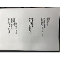John Deere 6675 7775 Skid Steer Loader Operators Manual JD OMM120995 Book