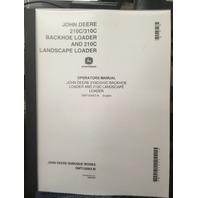 John Deere 210C 310C Backhoe Loader JD Operators Manual OMT132953 Book