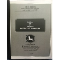 John Deere 260 270 Skid Steer Operators Manual JD OMKV18671 Book