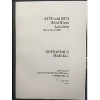 John Deere 4475 5575 Skid Steer Loader Operators Manual JD OMM123744 Book