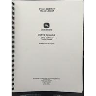 John Deere CT332 Compact Track Loader Parts Catalog JD PC9493 Manual Book
