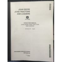 John Deere JD400 Tractor Loader Operators Manual JD OMT32425 Book