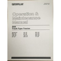 Caterpillar D6D Operation and Maintenance Manual Cat SEBU5941 Book