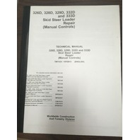 John Deere 326D 328D 329D 332D 333D Skid Steer Loader Manual Controls Repair Manual JD TM11431 Book Service Technical