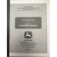 John Deere 110 Loader Backhoe Operators Operation and Maintenance Manual JD OMLVU18410 Book