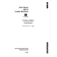 John Deere 510 Loader Backhoe Technical Manual JD TM1039 Book