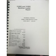 John Deere 310SG 315SG Backhoe Loader Repair Technical Manual JD TM1884 Book