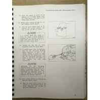 Caterpillar E120B Excavator Service Manual Serial Num 7NF1-UP CAT SENR54220 Book