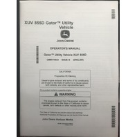 John Deere XUV 855D Gator Utility Vehicle Operators Manual JD OMM175933 Book