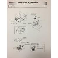HITACHI EH4000 AC II 2 RIGID DUMP TRUCK CHASSIS PARTS BOOK P8R71-2 P8R712
