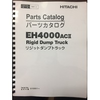 HITACHI EH4000 AC II 2 RIGID DUMP TRUCK CHASSIS PARTS BOOK P8R71-2 P8R712