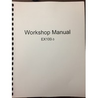 Hitachi EX100-3 Workshop Manual W134E00 Excavator Service Repair Book