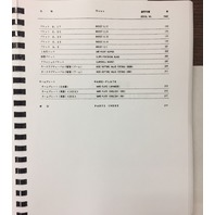 Hitachi EX100 PLAIN Excavator Parts Catalog Early P12E17 P12EE17