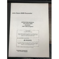 John Deere 690B Excavator Operators Manual JD OMT73563 Op Book