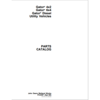 John Deere 6X4 4X2 Gator Utility Parts Manual JD PC2387 Vehicle Book