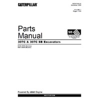 Caterpillar 307C 307CSB Excavator Parts Manual CAT SEBP3145 Book 307C SB