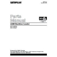 Caterpillar 428D Backhoe Loader Parts Manual CAT SEBP3969 Book