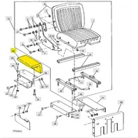 John Deere 450E 455E 450G 455G 550G 555G 650G Dozer Loader Arm Rest rests