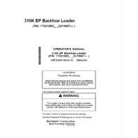 John Deere 310K EP Backhoe Loader Operators Manual JD OMT305695 Operation Book