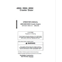 John Deere 450H 550H 650H Crawler Dozer Operator Manual JD OMT182515 Book