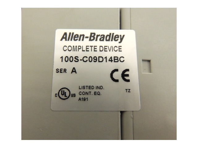 Used Allen Bradley Safety Contactor 100S-C09D14BC Series A