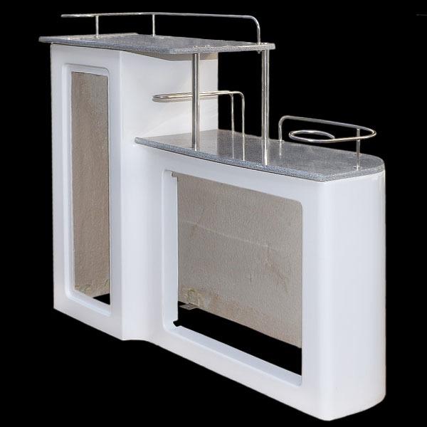 Avalon Fiberglass Pontoon Boat Rear Entry Cabinet Table ...