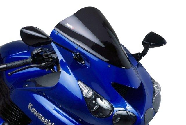 06-16 Kawasaki ZX1400 Ninja ZX-14 Puig Racing Windscreen Black  4057N