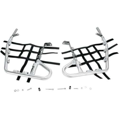 Pro Braking PBK7673-WHT-BLA Front//Rear Braided Brake Line White Hose /& Stainless Black Banjos
