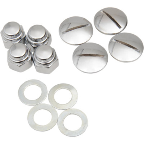 Colony Chrome Slotted Replacement Rocker Shaft End Plugs 8222-8