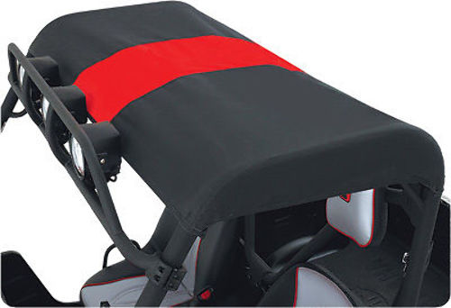 Polaris RZR 2-Seat Models 800 S XP 900 Beard Bimini Black and Red Top