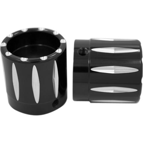Black AXL-AIR-ANO Avon Grips Air Cushion//Custom Contour Axle Nut Covers 1in