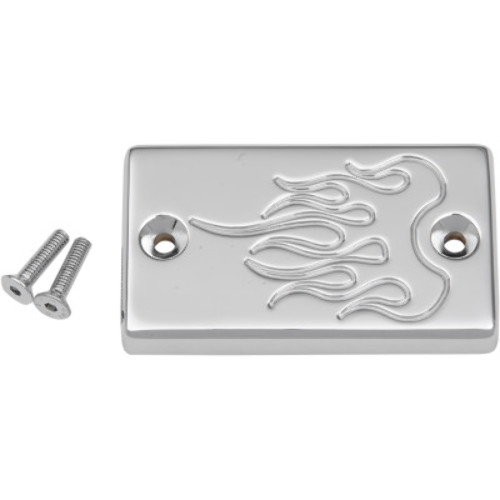 Chrome Baron Custom Accessories Master Cylinder Covers Smooth BA-7686-00